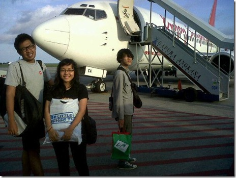 flight to javan island